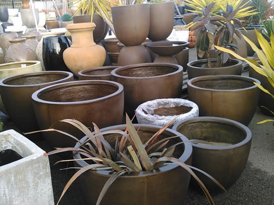 Brown Garden Pots