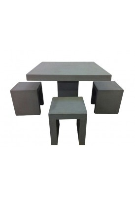 Hampton Square Table With 4 Stools