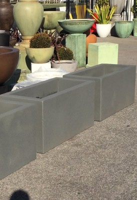 Custom Made Dual Density Rectangular Planters