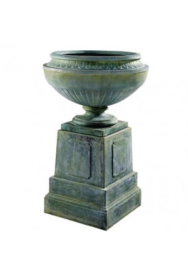 Coade Stone Vase and Plinth