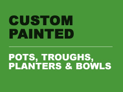 Custom Painted Garden Pots